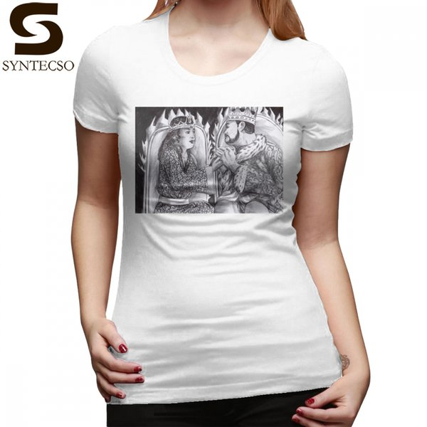 E King T-Shirt Bella e King Jack T Shirt Maglietta da donna modello semplice 100 T-Shirt da donna in cotone Street Fashion