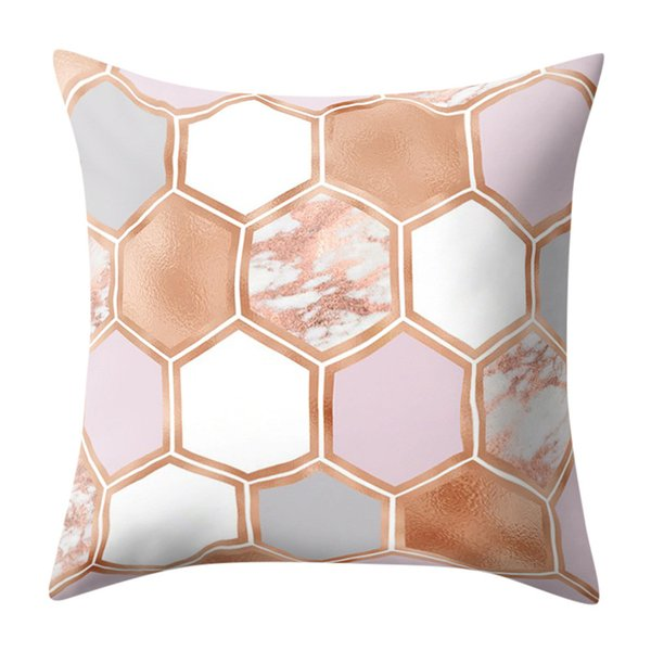 Geometric Marble Texture Pillows Case Casual Throw Decorative Cushion Cover Sofa Home Decor cojines decorativos para sof