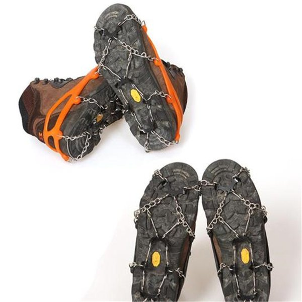 8-Stud Universal Ice Non-slip Snow Shoe Boot Spikes Grips Cleats Crampons Winter Climbing Anti-slip Shoes Cover (2 Color) 2019033006