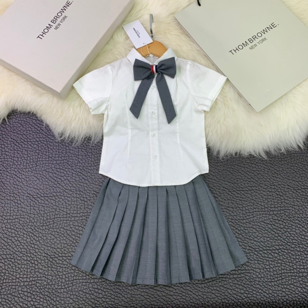 Children's wear girl Suit baby skirt Young child Summer clothing 2019 new products Wholesale prices Pearl collar Bow vest shirt or