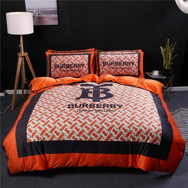 Orange Quilt Cover Sets Queen Size Soft Velvet Quilt Cover King Winter Man  And Women Comforter Set Bedding