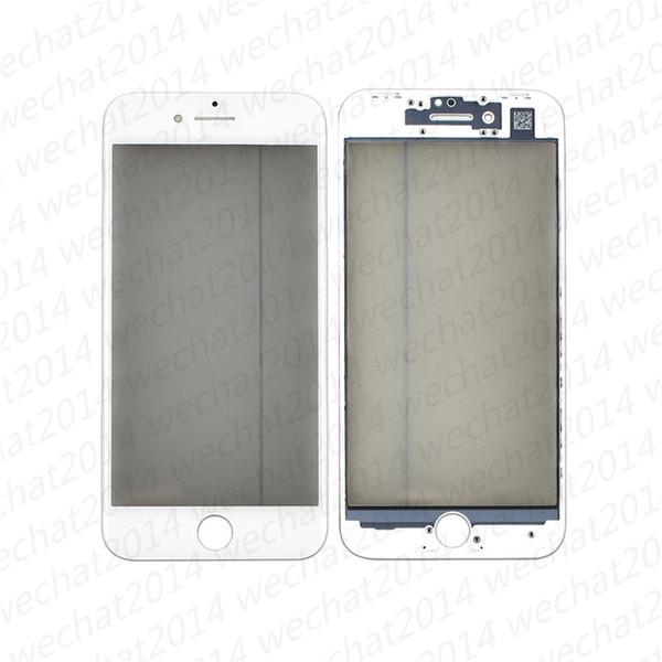 Oem ön dış cam dokunmatik ekran cam lens çerçeve oca etiket polarize iphone 6 6s 7 8 artı