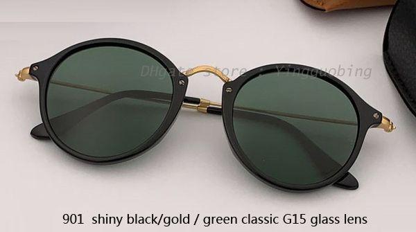 901 shiiny black gold/green classic G15