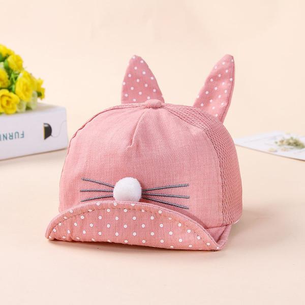 ideacherry Fashion Rabbit Design Baby Hat Spring Summer Hats For Boys Girls Multicolor Casual Bucket Kids Hat Baby Cute