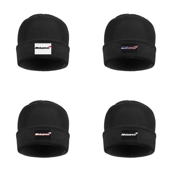 Men Women's McLaren sports car price automotive Fleece Lined Wool Cap Knit Beanie Hats used mclaren for sale logo Original cost 3D flag