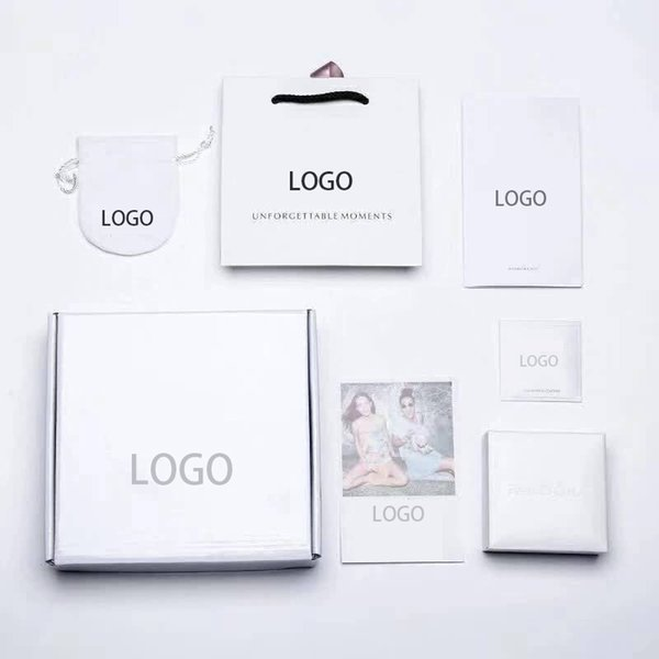 best selling New Brand White Bracelet Packaging Fit Original European Charm Bracelet Fine Jewelry Gift Box