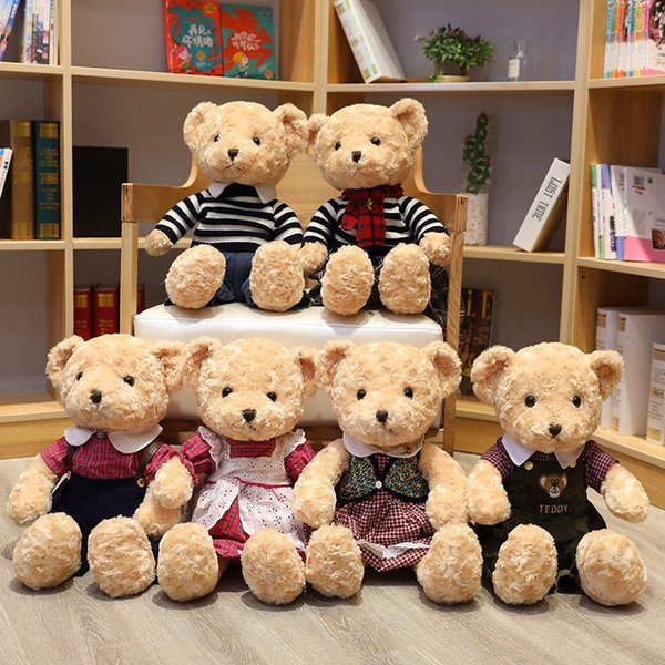 55cm Super Soft Teddy Bear Plush Toy Kids Toys Baby Appease Doll Cute Couple Bear Gift for Children Girlfriends Wedding Gift