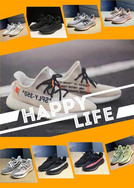 Sneakersyeezyyeezys350 V2 Sandalet Elbise Tekne Ayakkabı Erkek Kadın Günlük Spor Ayakkabı Eğitim Spor ayakkabıları, Spor Koşu koşu ayakkabıları