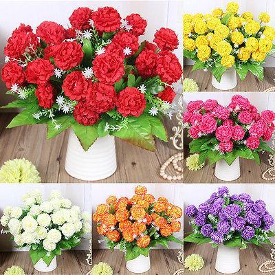 1 Buket 8 Kafalar Yapay Plastik Sahte Ortanca Çiçek Yaprak Ev Dekorasyonu Gelin Buketi Mutlu Hediyeleri Düğün Dekorasyon Bonsai