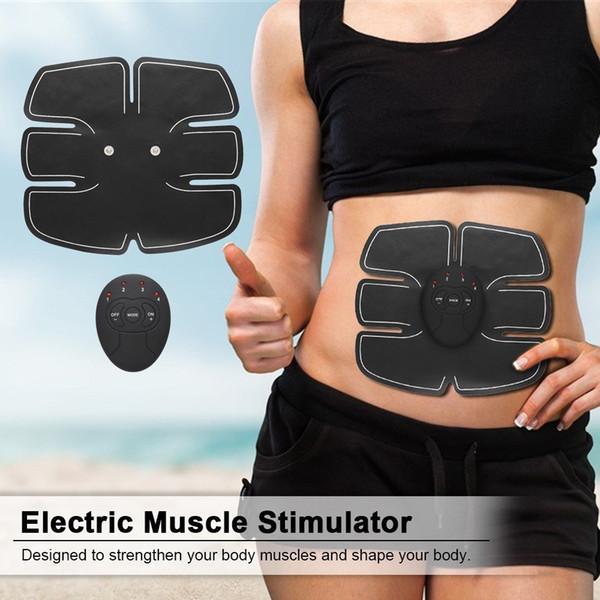 Elektrikli Karın Kas Stimülatörü Egzersiz Eğitmeni Akıllı Fitness Salonu Kilo Kaybı Çıkartmalar Ped Vücut Zayıflama Masaj Kemeri Unisex