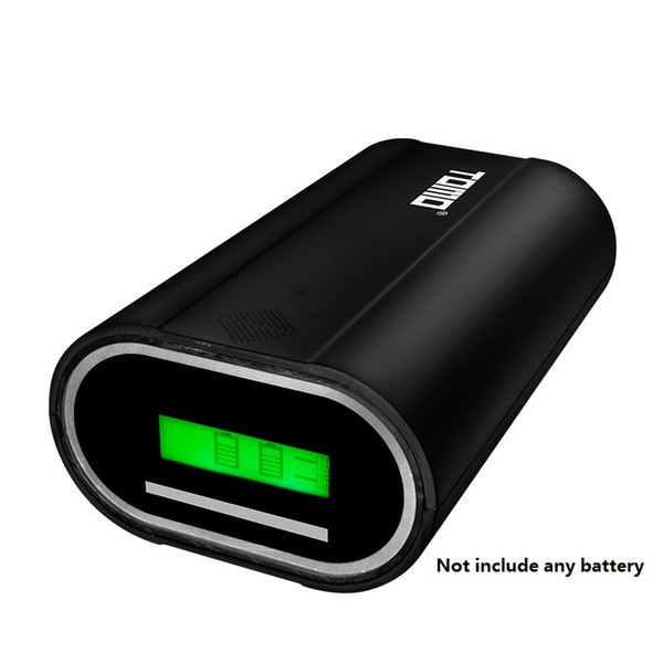 Dual Outputs USB Li-ion Intelligent Battery Charger DIY Portable LCD Smart Mobile Power Bank Case 26650 Battery chargers phone smart power