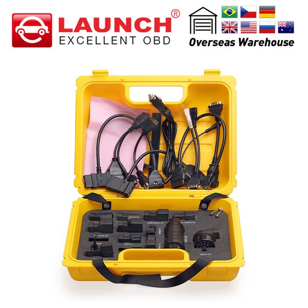 Launch X431 Diagun IV yellow case with full set cables and adapters Yellow box for x-431 Diagun IV easydiag Midiag connector