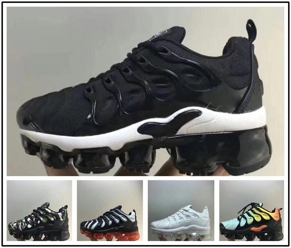 low priced db560 3cdf7 Acheter Nike Air Max TN Plus Vapormax Airmax Original Baby KidTN Plus  Hommes TN Plus Blanc Noir Bleu Garçons Basket Chaussures De Course Requin  ...