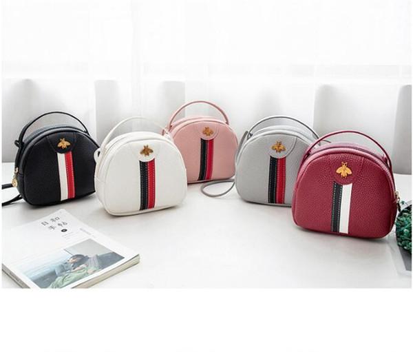 Kinder taschen Bänder Gestreifte Designer Handtasche 5 Farben Marke Messenger Bags Mini Telefon Münze Umhängetasche Reise Lagerung Handtasche Totes DHL FJ316