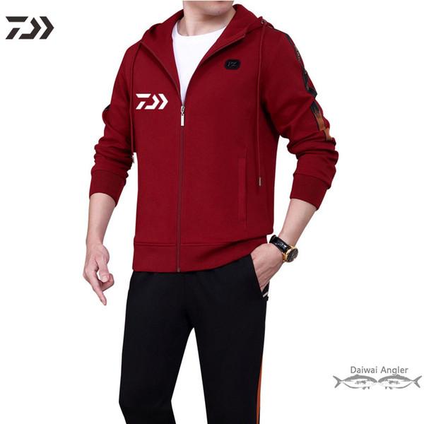 Correspondance des couleurs des hommes de veste de pêche hommes costume de pêche à manches longues garder des vêtements solides WRAM fihsing pantalons de randonnée