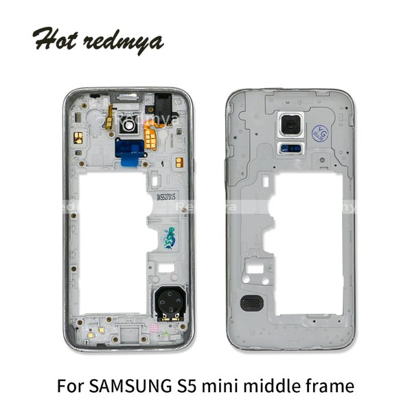 10Pcs/lot Middle Frame For Samsung Galaxy S5 Mini G800 Dual Single Sim Middle Frame Housing Outer Frame Bezel Chassis + Button