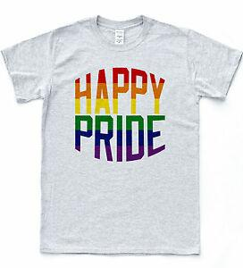 MUTLU GURUR T-shirt LGBT Eşcinsel Parade Kutlama Tee Gururlu Lezbiyen Biseksüel Üst