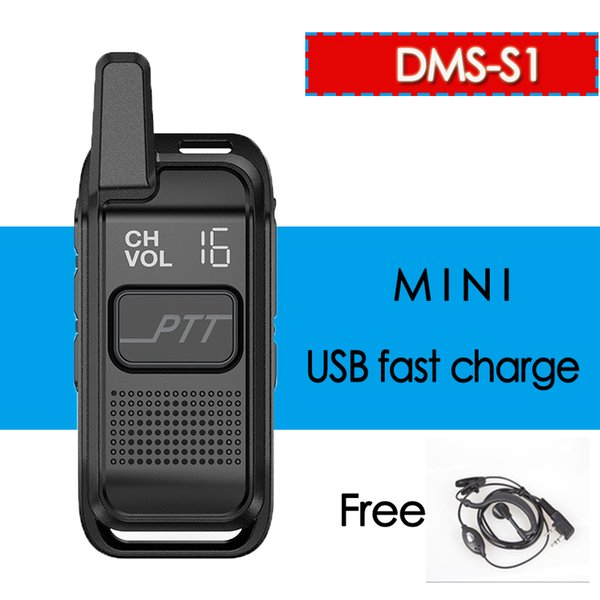 DMS S1 Mini Portable USB Ham Radio Walkie Talkie Wireless Professional  Civilian Hand Communicator HF Transceiver 4 Pack Walkie Talkie Army Walkie