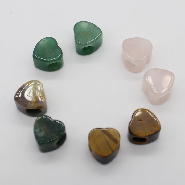 guadagni 14 * 14 millimetri gemma tallone cuore grande buco per la collana che fa gioielli braccialetto disegno di trasporto libero materiale