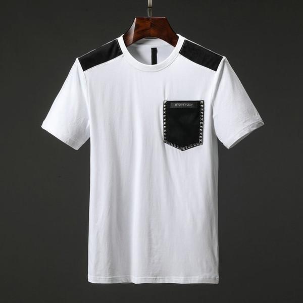 1052fb1c10fca 2019 Мужские футболки Лето Новая модель Красивая печать Молодежные футболки  Футболка из чистого хлопка с коротким