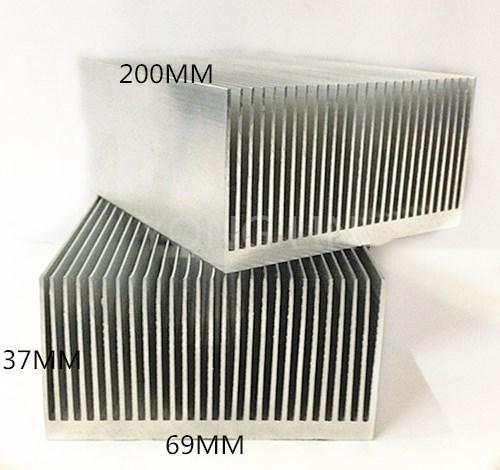 2piece extruded aluminum heatsink 200*69*37mm Computer dedicated heat sink/Fine-toothed fin