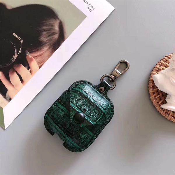 Для Airpods Case искусственная кожа защитная крышка крюк Застежка брелок анти-потерянный мода наушники случаи Bluetooth защитить ваши наушники уха стручки