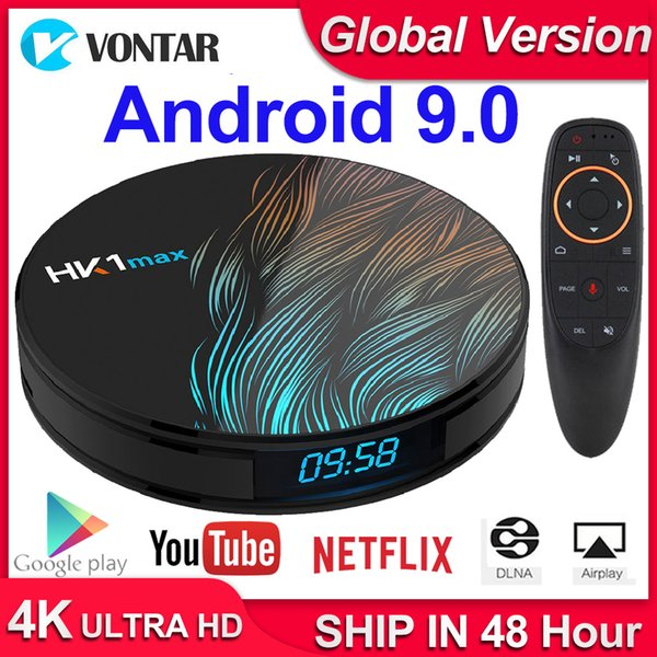 top popular HK1 Max Android 9.0 Smart TV Box Set Top Box 4GB RAM 64GB 4K Youtube H.265 BT4.0 Google Play store Netflix Android Box 2019