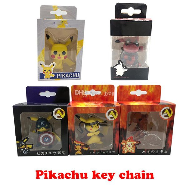 Pikachu anahtarlık çan çift Anahtarlık Araba Anahtarlık Akrilik Çan Anime Anahtarlık Çanta Kolye Bts Pikachu Rakamlar Aksesuarları Kız hediye