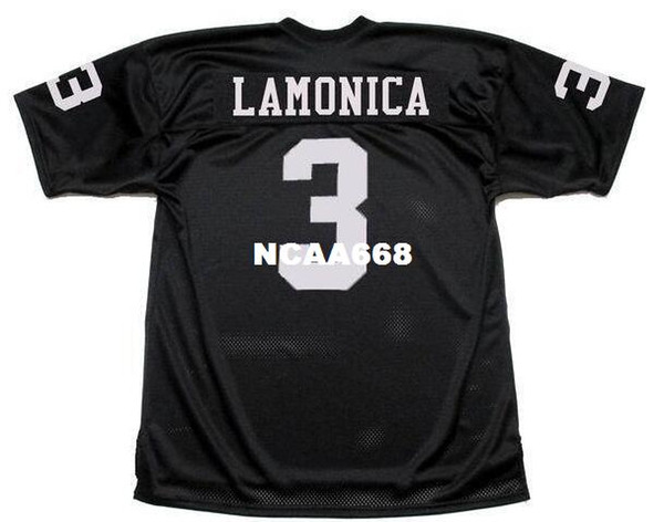 top popular Men DARYLE LAMONICA #3 Sewn Stitched RETRO JERSEY Full embroidery Jersey Size S-4XL or custom any name or number jersey 2019