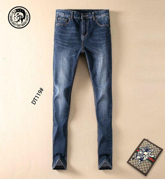 Vaqueros para hombre de la moda los pantalones casuales tamaño 29-38 cómodo tendencia WSJ000 # 112697