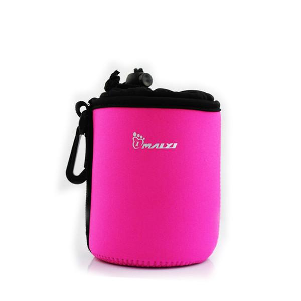 Portable Neoprene Pouch Bag for Canon / Nikon / Pentax Sony Olympus Panasonic DSLR Camera Lens (Rosy)