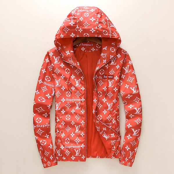Europe and America mens design jackets Long Sleeve windbreaker windrunner Men Zipper Waterproof Jacket hip hop clothes