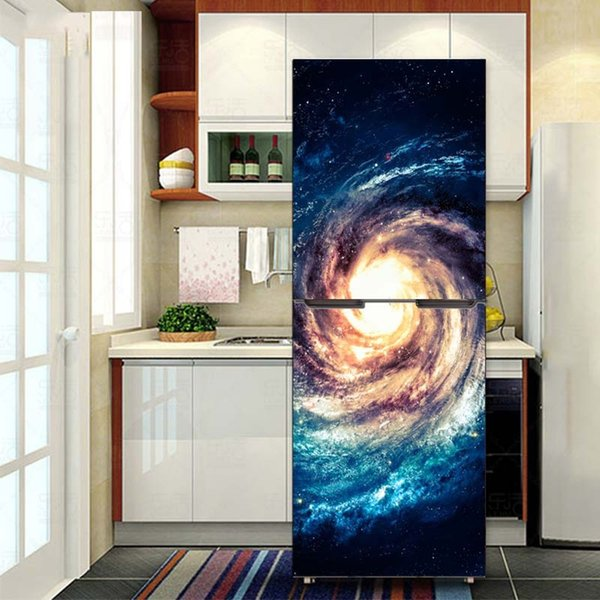 Fridge Wrap /Space Galaxy/Removable Self Adhesive Vinyl /Peel and Stick Decal Wallpaper