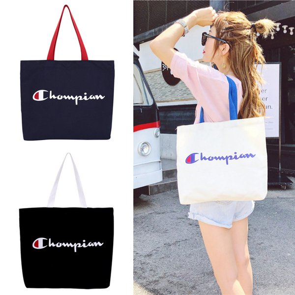 C Письмо Сумки 3 цвета мода девушка Холст сумка женская сумка большой емкости дизайнерские сумки ZJY610