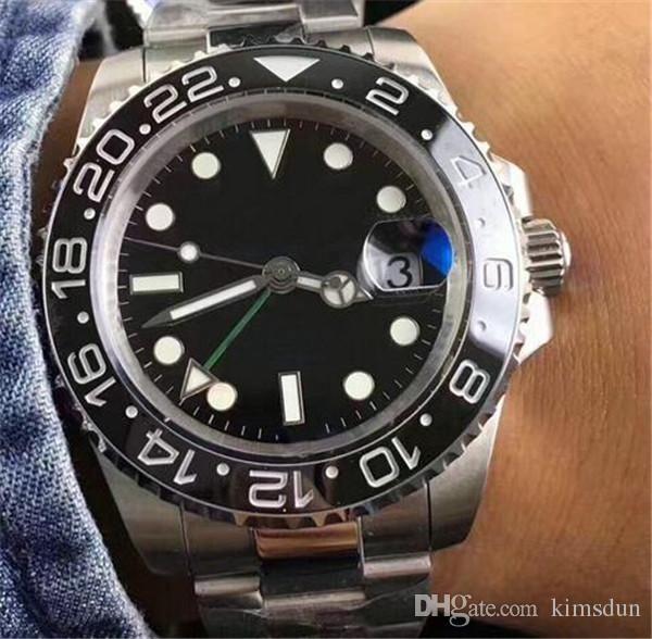 10 Black Ceramic Bezel Luxury Watch Brand Automatic Watch 116710 Stainless Clasp Mens Women's Fashion Master Watches Original Clasps Wr
