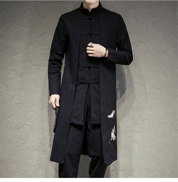 Traditional Chinese Tang jacket Winter Cotton linen Cloth Tang Clothing Coat Wing chun Kung fu shirt thick embroidery cotton-jacket M3-692