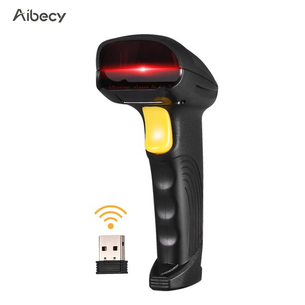 top popular Aibecy 2-in-1 2.4G Wireless Barcode Scanner & USB Wired Barcode Scanner Automatic Handheld 1D Bar Code Reader 2019