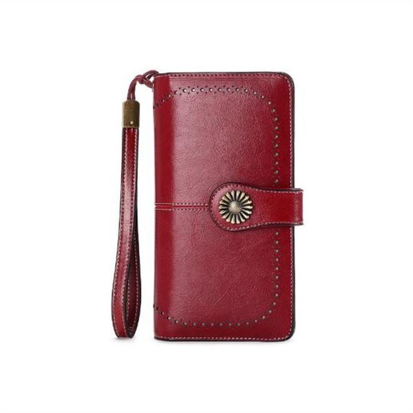 Madonno Frizione Donne Portafoglio Femminile Lungo Portafogli Portafogli Zipper Strap Sacchetto Della Moneta Borsa Per Iphone 7 Q190505