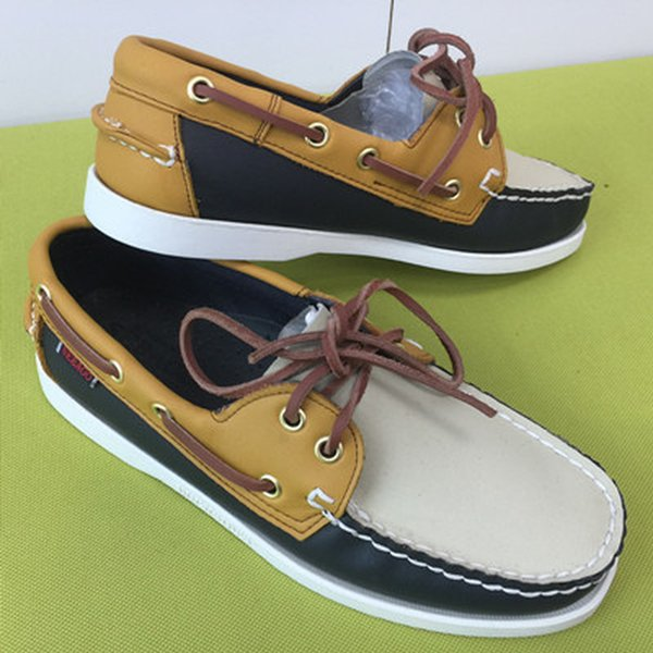 Beiläufigen Männer PU-Leder Docksides Deck Lace-up-Mokassin-Boots-Loafers Schuhe Mode 22Colors Unisex Plus Size