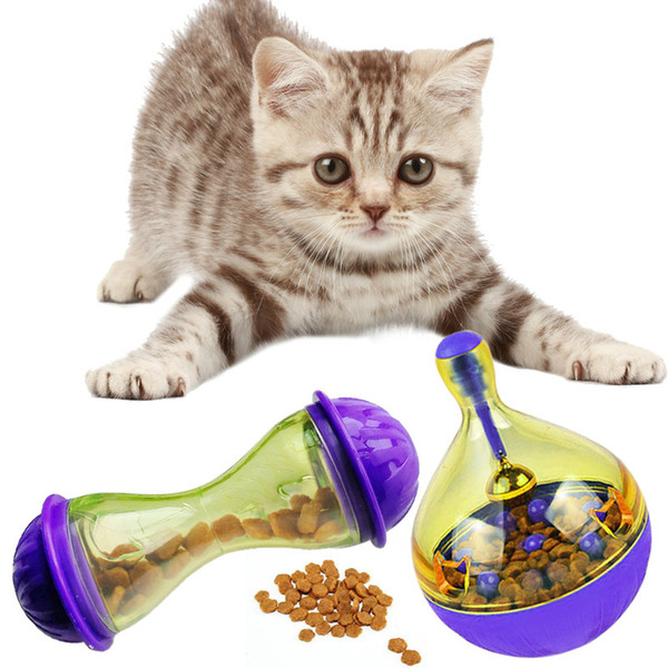 Cat Feeders Food Ball Pet Interactive Toy Tumbler Egg Smarter Cat Playing Toys Treat Ball Shaking for Dogs Increases