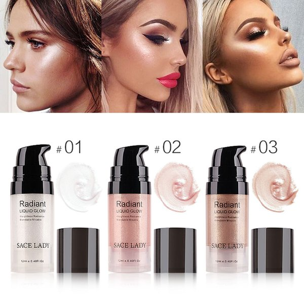 SACE LADY Face Radiant Liquid Glow Makeup Highlighter Cream Professional Shimmer Facial Lip Body Brighten Kit Natural Long Lasting Cosmetic
