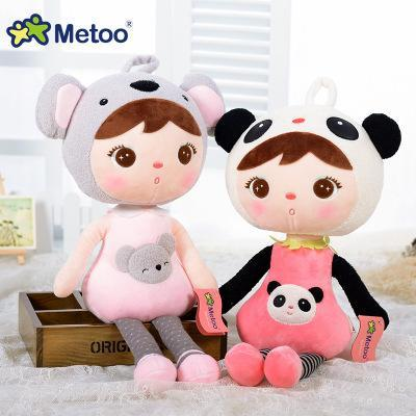 45cm 22cm kawaii Stuffed Plush Animals Cartoon Kids Toys for Girls Children Boys Kawaii Baby Plush Toys Koala Panda Baby Metoo Doll