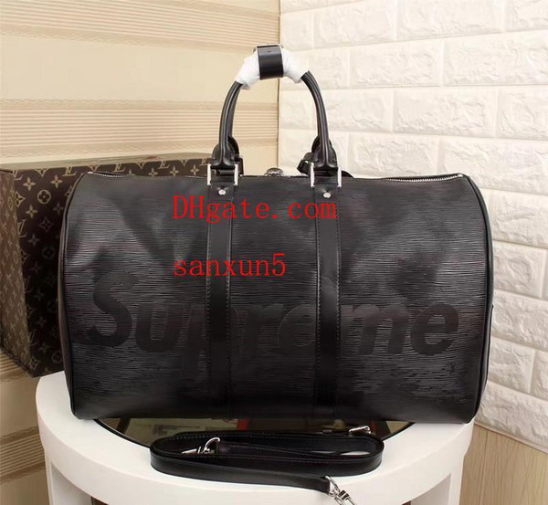 New Fashion Men Women Travel Duffle Luggage Handbags Large Capacity Sport Bag 45*27*20cm 41418-water