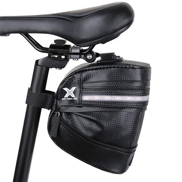 Black Polyster Handlebar Tail Bag Front Map Install Bicycle Bags Waterproof Bike