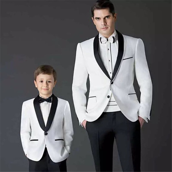 Black And White Terno Masculino Groom Blazer Navy Blue 2Pieces(Jacket+Pant+Tie) Costume Homme Men Suits For Wedding Tuxdeo