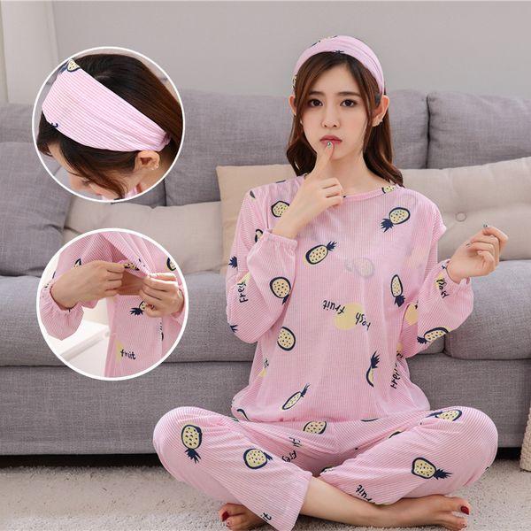 Breastfeeding Clothes For Pregnant Women 2018 Spring Autumn Nursing Pajamas Casual Clothing Set Long Sleeve Maternity Sleepwear