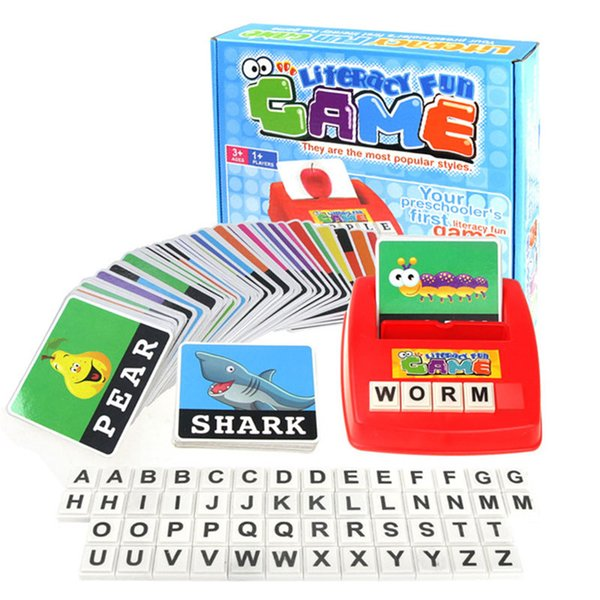 Children Learning English Word Puzzle Spelling Game Picture Flash Card Early Educational Toys For Baby Kids Gift