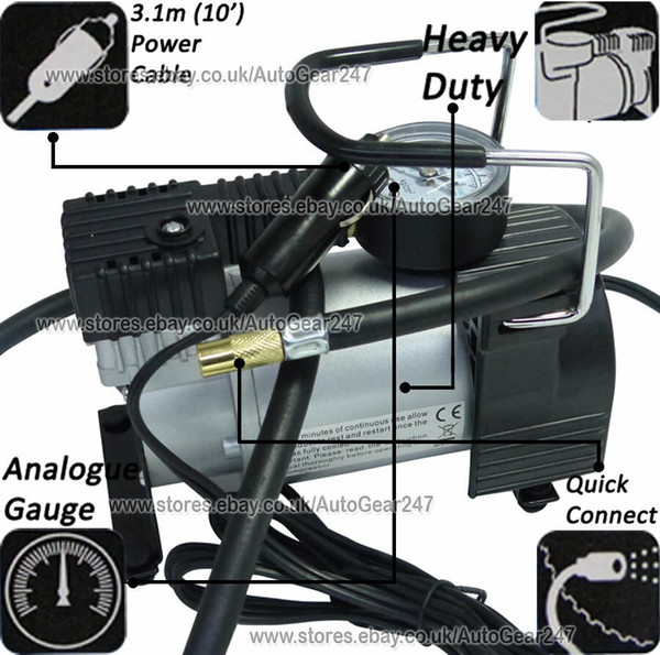 12 V Streetwize SWAC13 Portable Air Compressor//Tyre Inflator