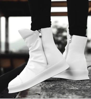 Free Shipping New Arrival Hot Sale Specials Super Martin Retro Wild High-Top Cowboy White trend British Casual Mens Ankle Boots EU39-44