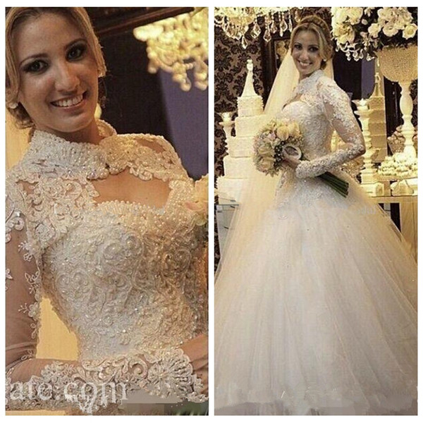 2019 Sweetheart Lace Appliques A-Line Wedding Dresses With Long Sleeves Jacket Bridal Gowns Formal Vintage Vestidos De Mariee Custom Lace Up